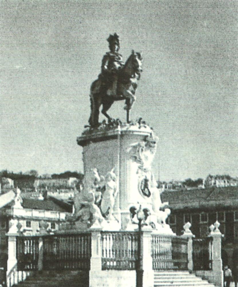Machado de Castro: Estátua de D. José, na Praça do Comércio, em Lisboa