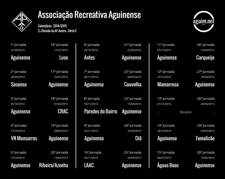 Calendário Aguinense - 2014/2015